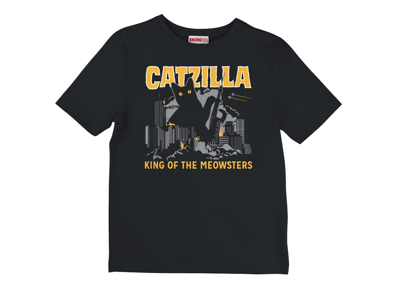 Catzilla on Kids T-Shirt