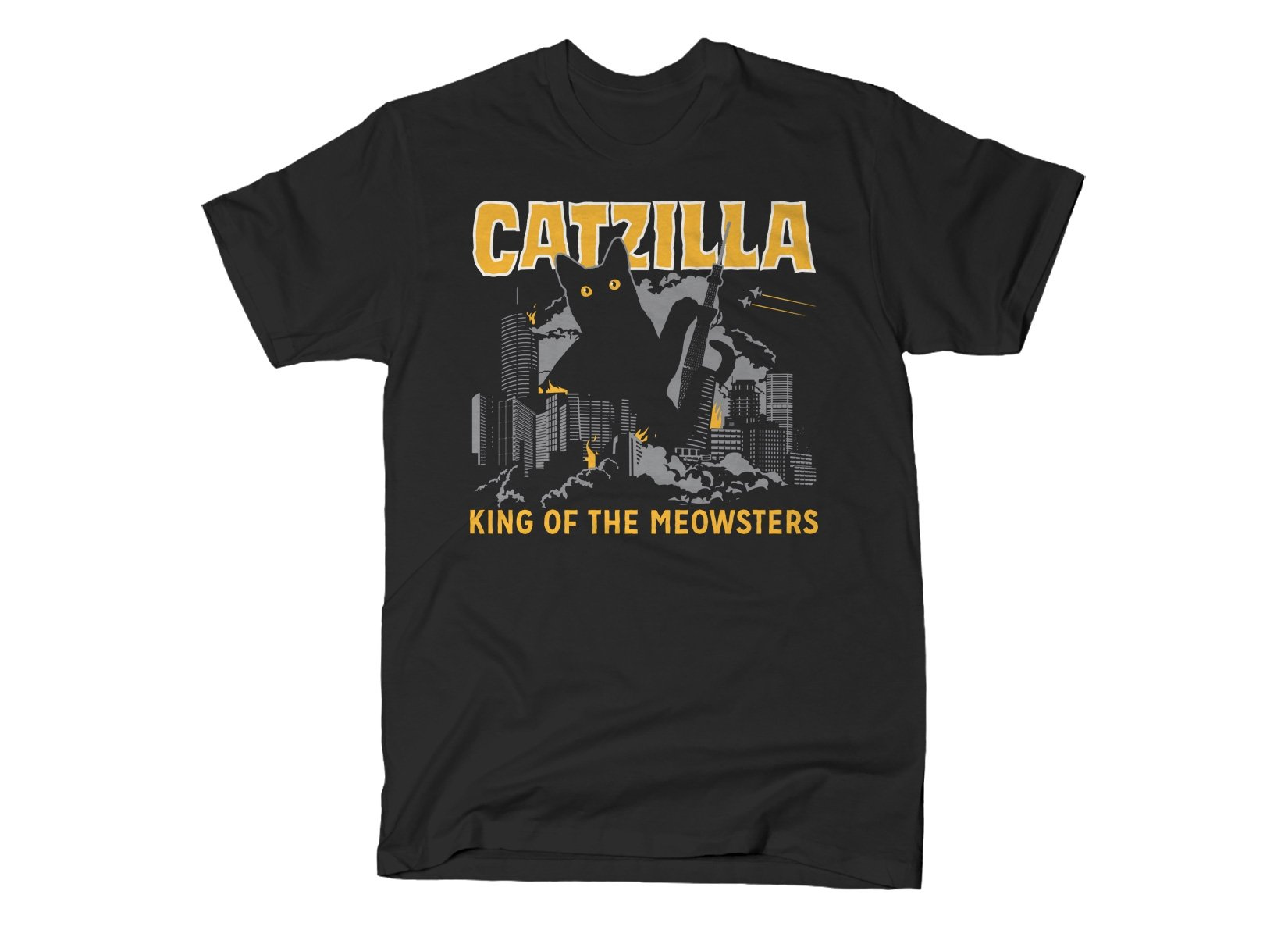 Catzilla on Mens T-Shirt
