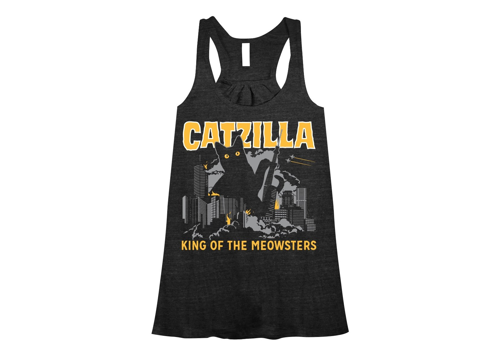 Catzilla on Womens Tanks T-Shirt