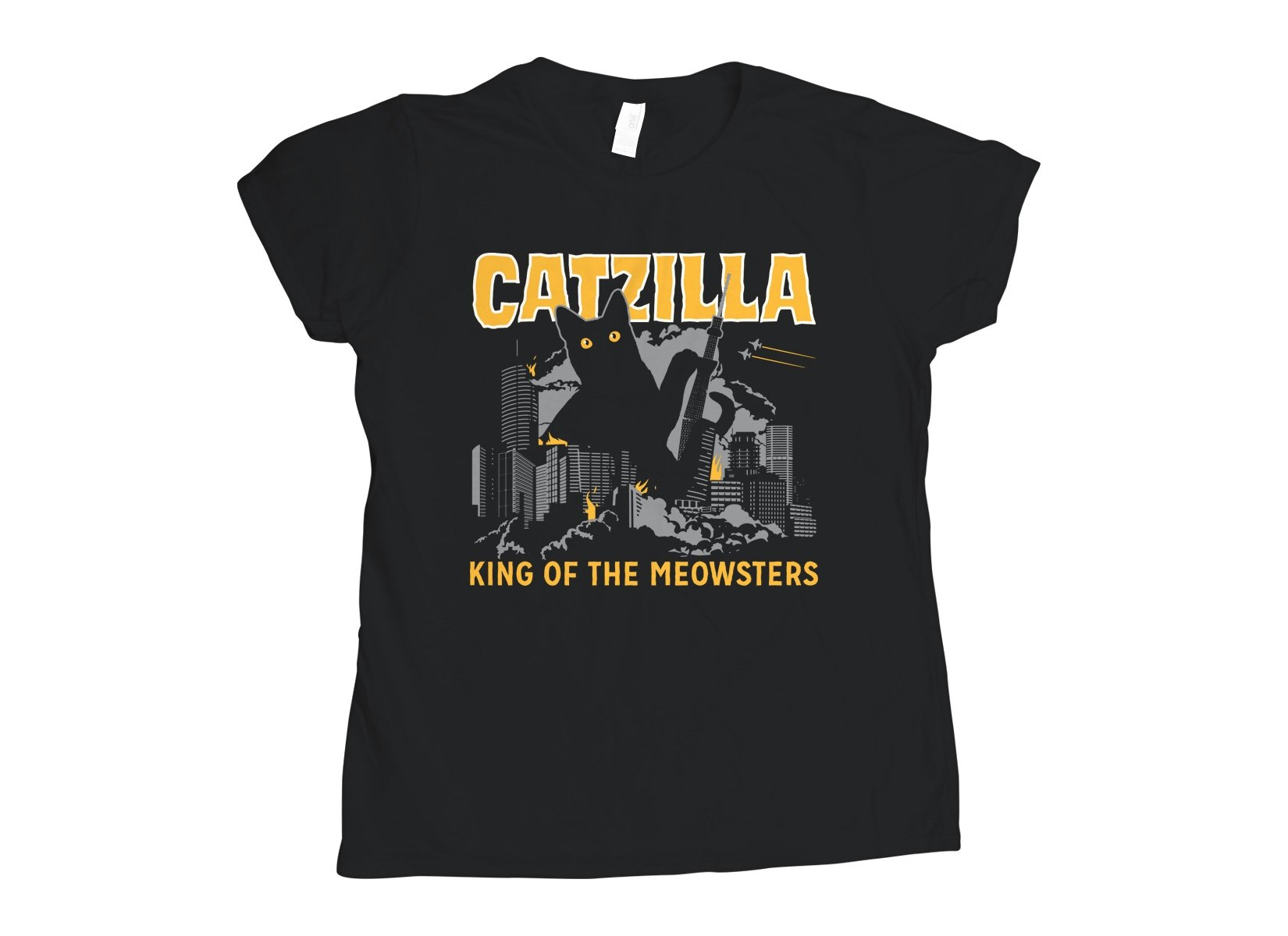 Catzilla on Womens T-Shirt
