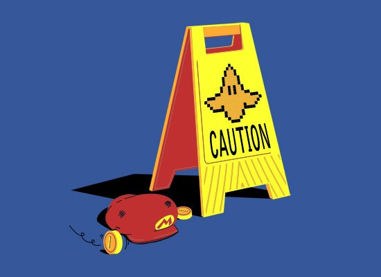 Caution Banana on Mens T-Shirt