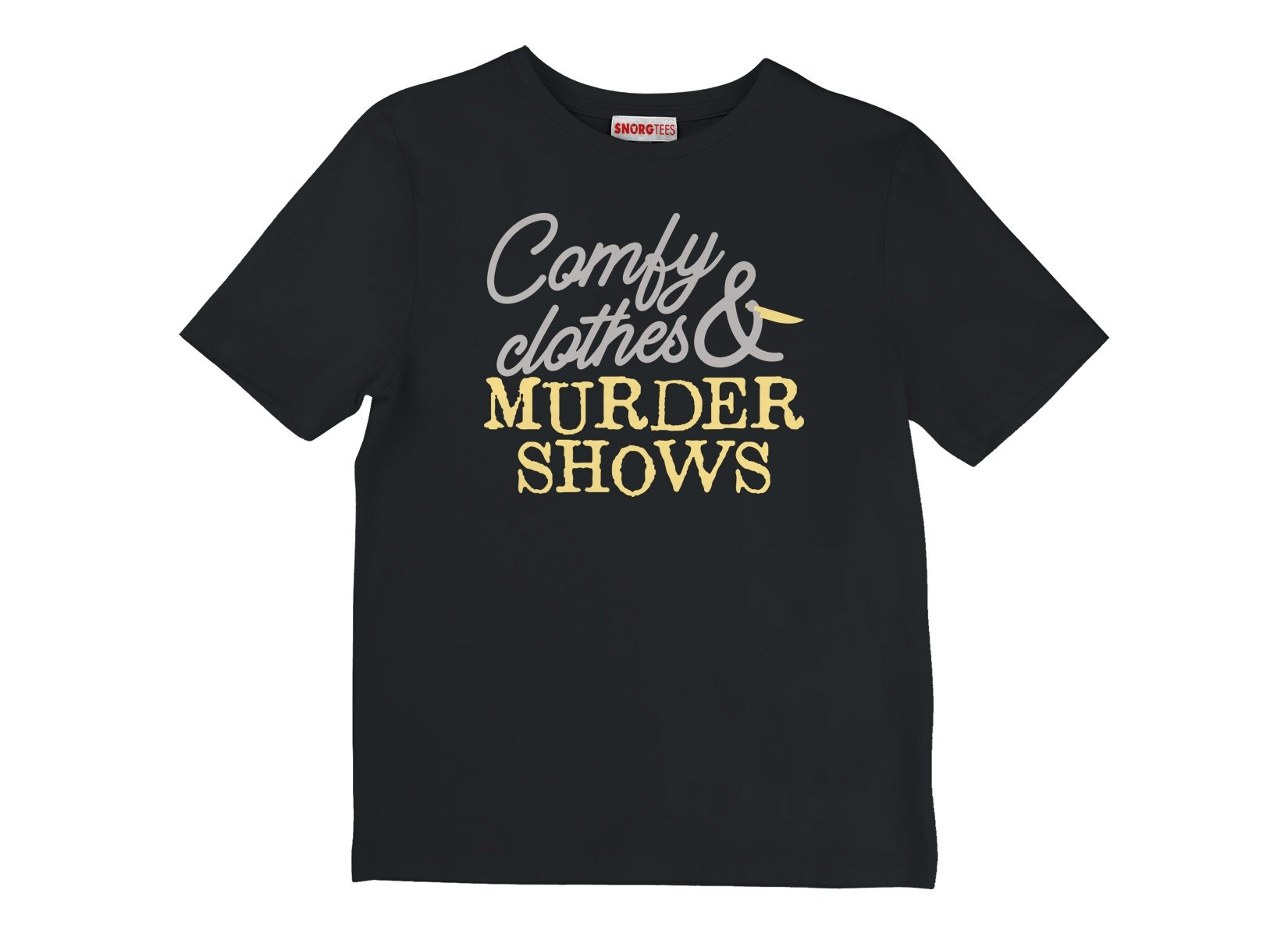 Comfy Clothes & Murder Shows on Kids T-Shirt