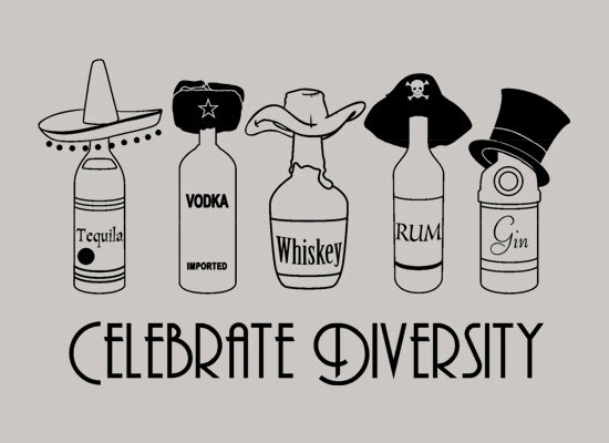 Celebrate Diversity on Mens T-Shirt