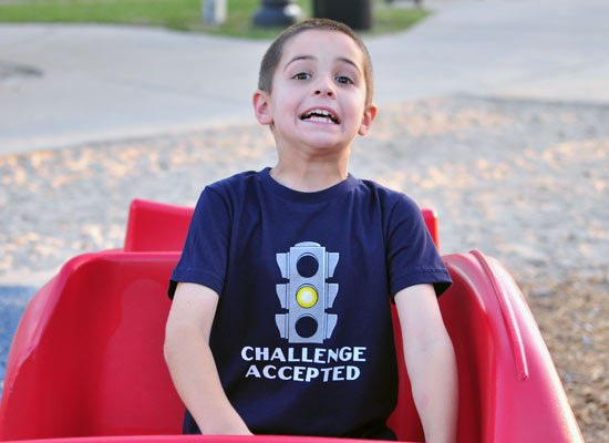 Challenge Accepted Stoplight on Kids T-Shirt