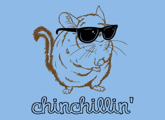 Chinchillin on Mens T-Shirt