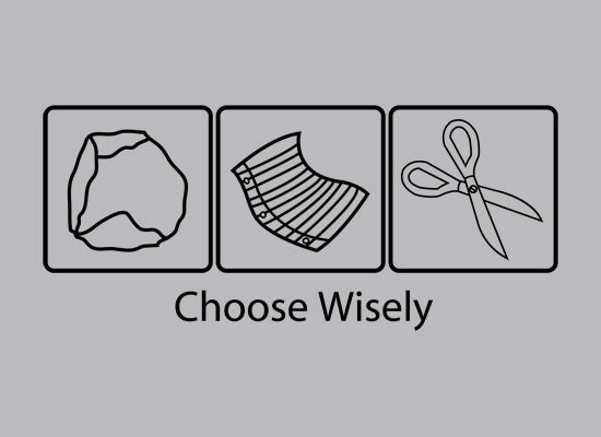 Choose Wisely on Mens T-Shirt