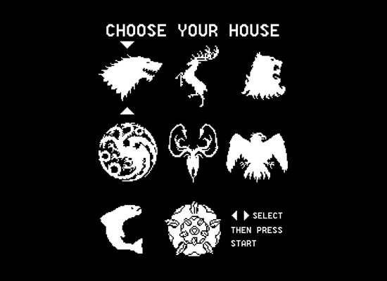Choose Your House on Mens T-Shirt