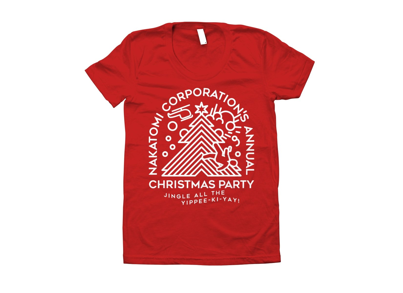 Nakatomi Christmas Party on Juniors T-Shirt