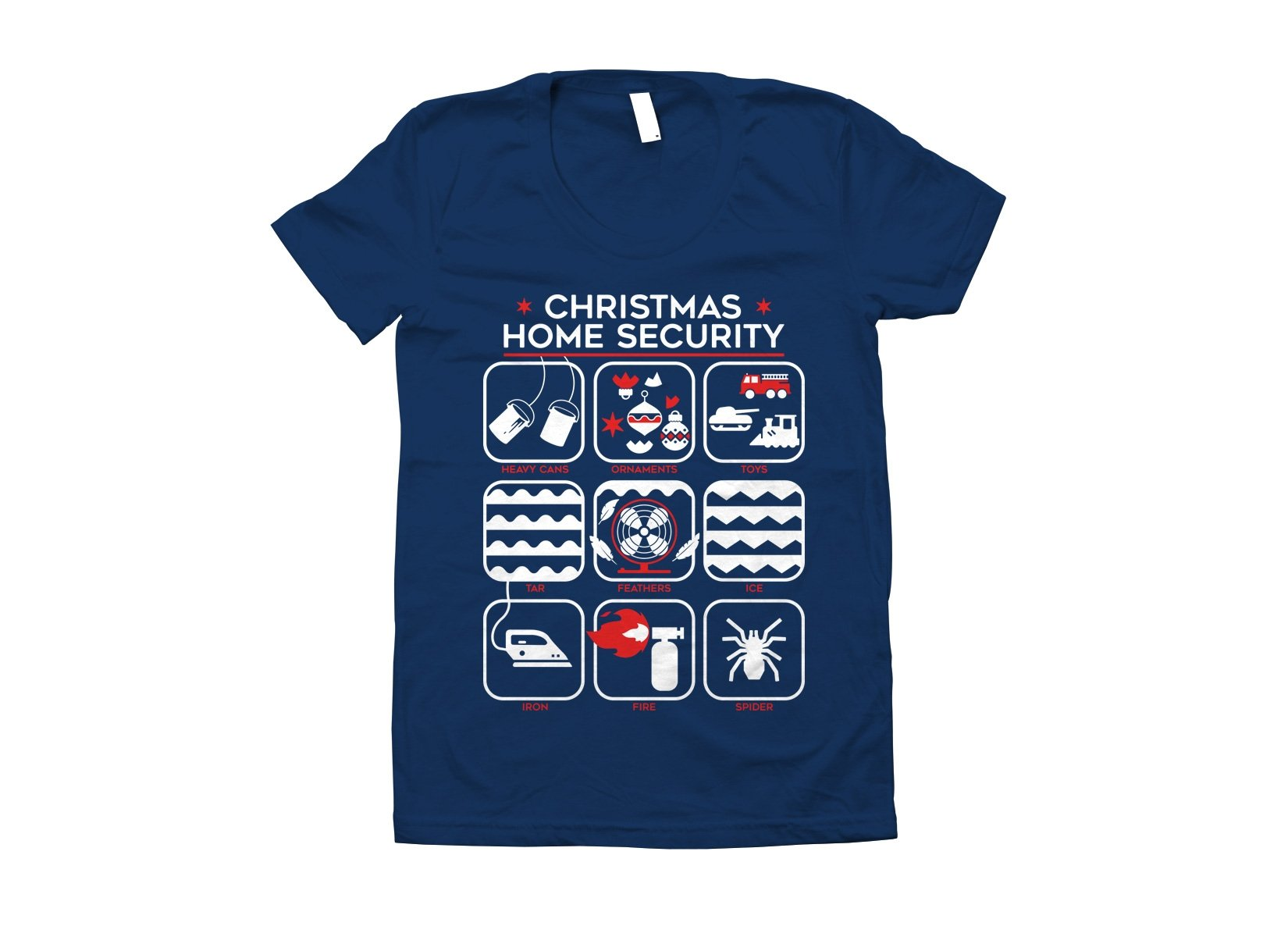 Christmas Home Security on Juniors T-Shirt