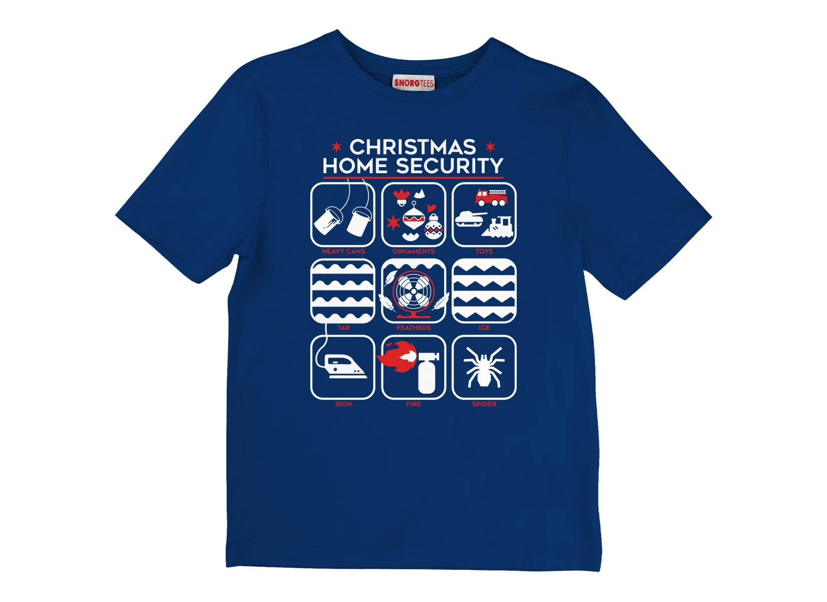 Christmas Home Security on Kids T-Shirt