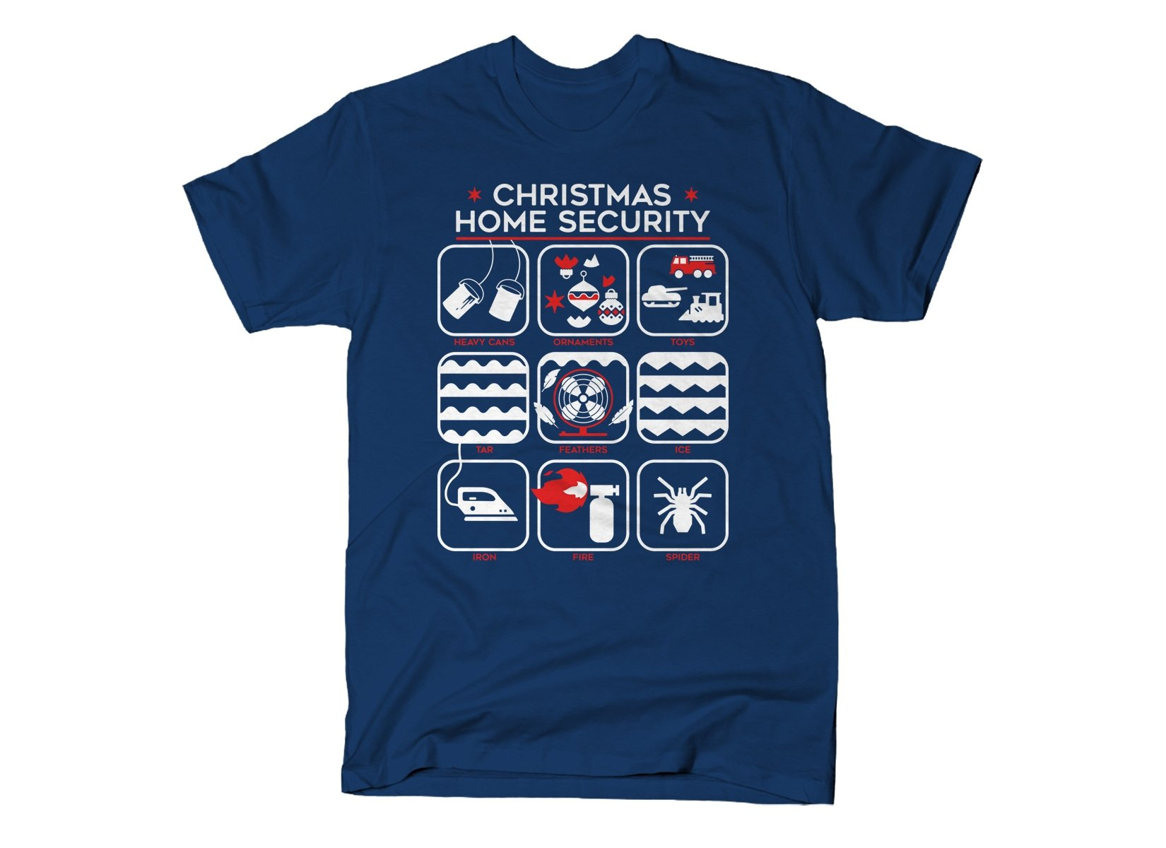 Christmas Home Security on Mens T-Shirt
