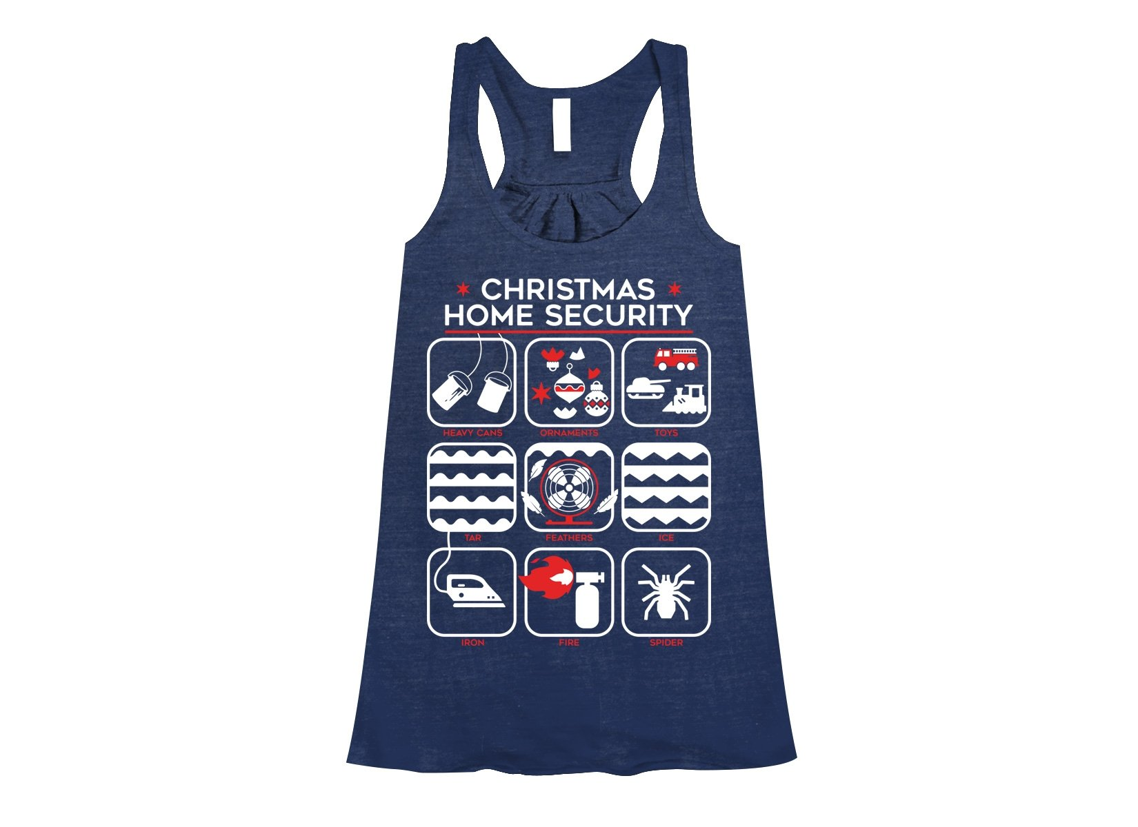 Christmas Home Security on Womens Tanks T-Shirt