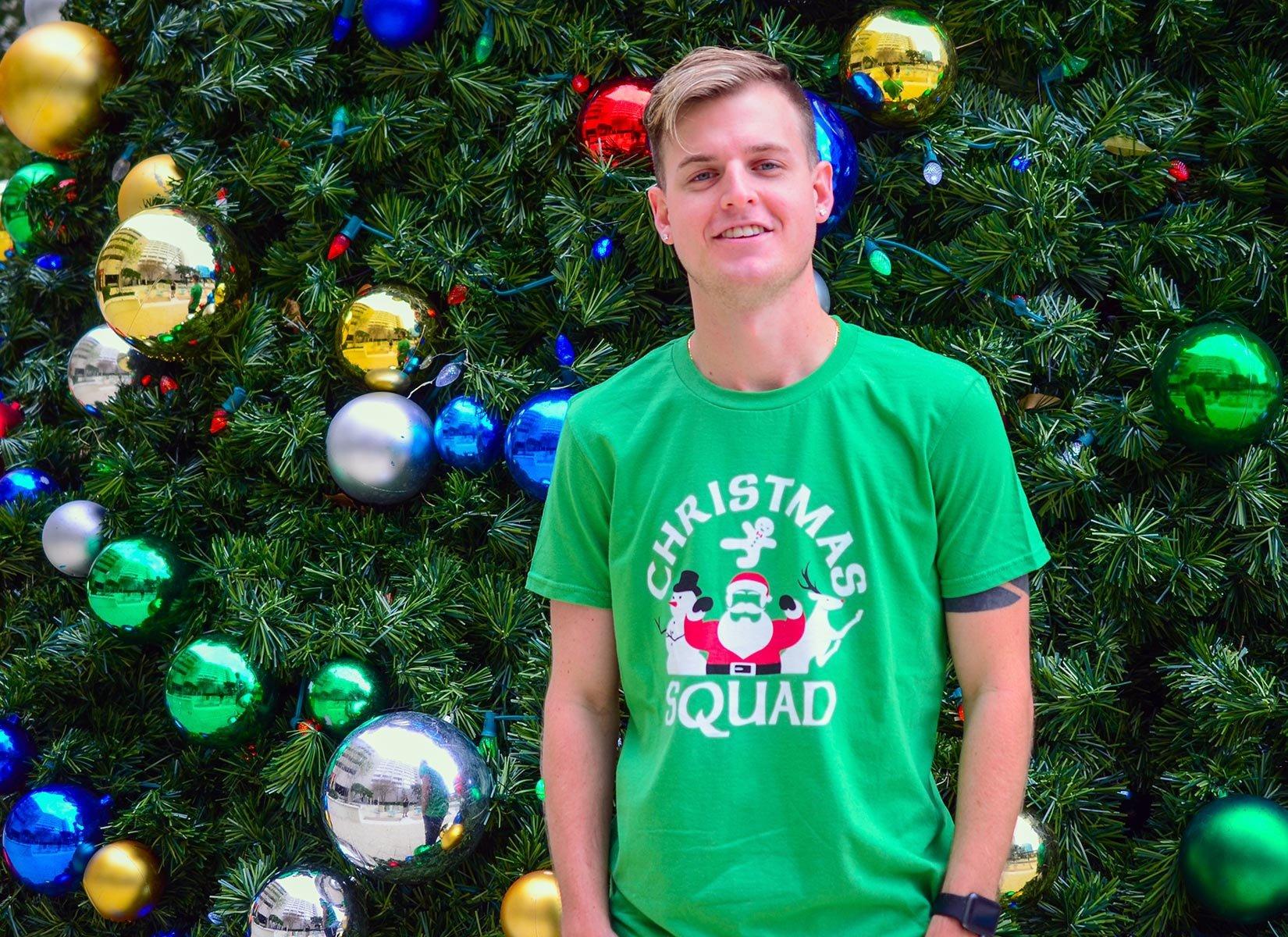 Christmas Squad on Mens T-Shirt