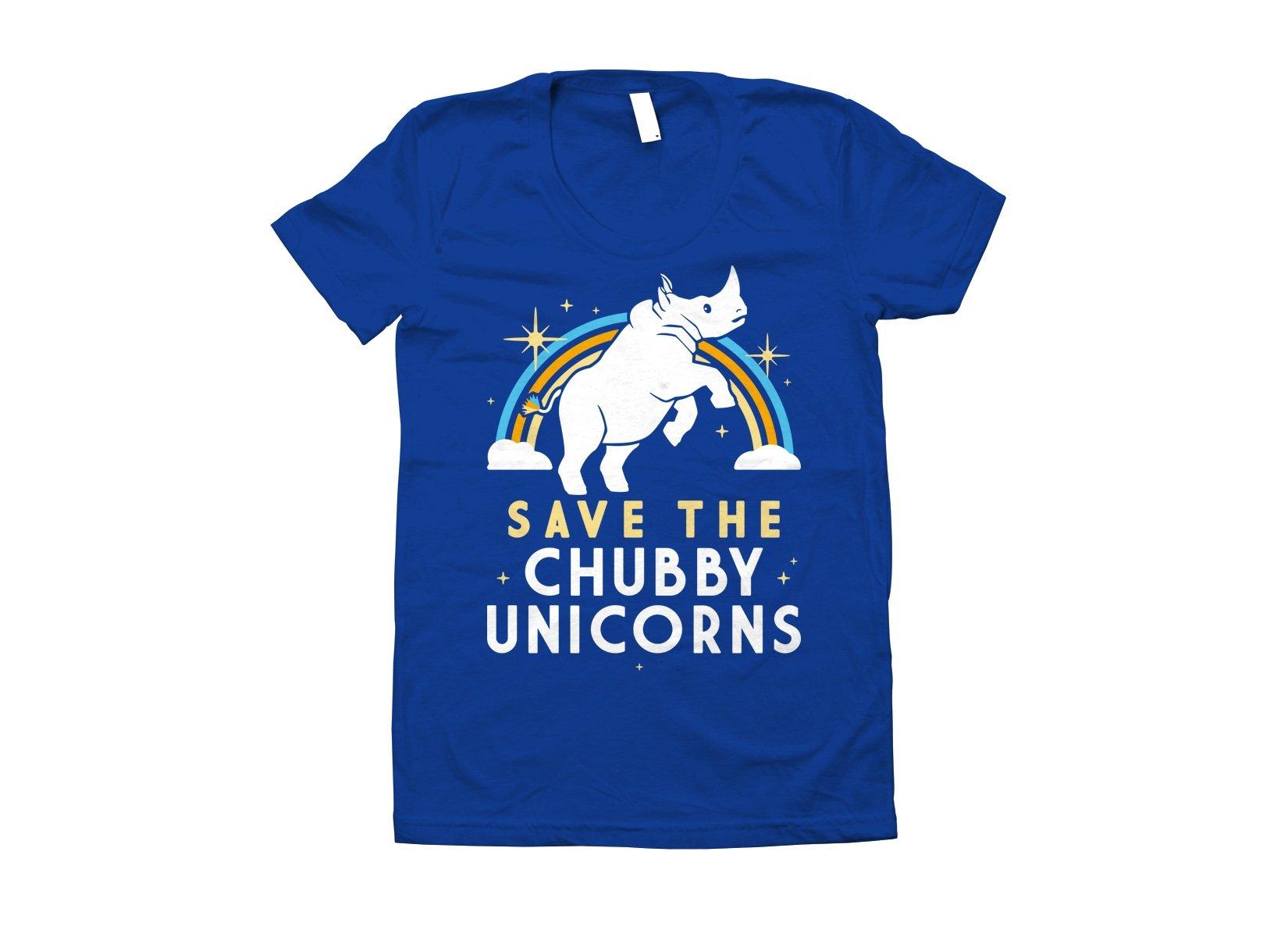Save The Chubby Unicorns on Juniors T-Shirt