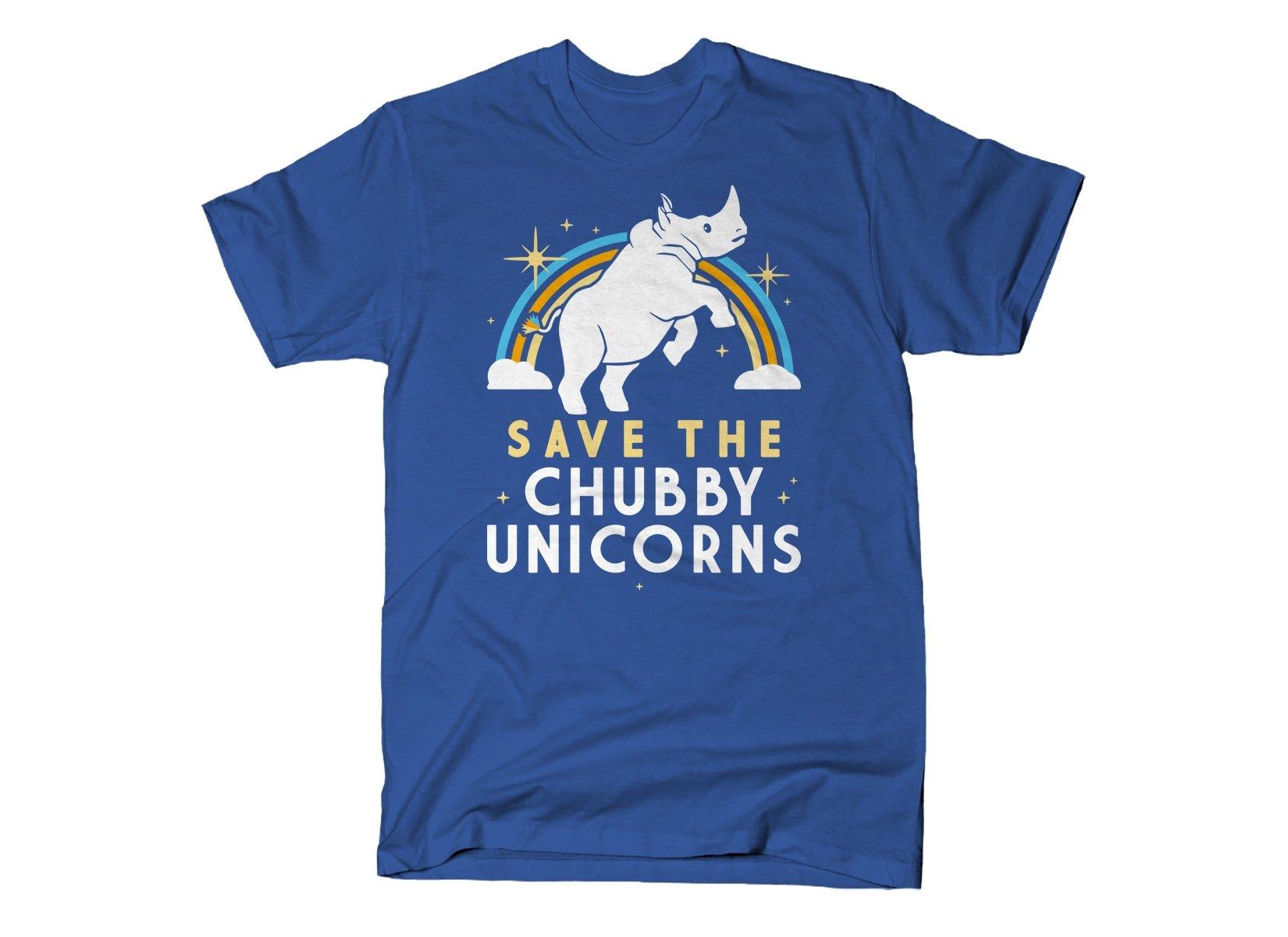 Save The Chubby Unicorns on Mens T-Shirt