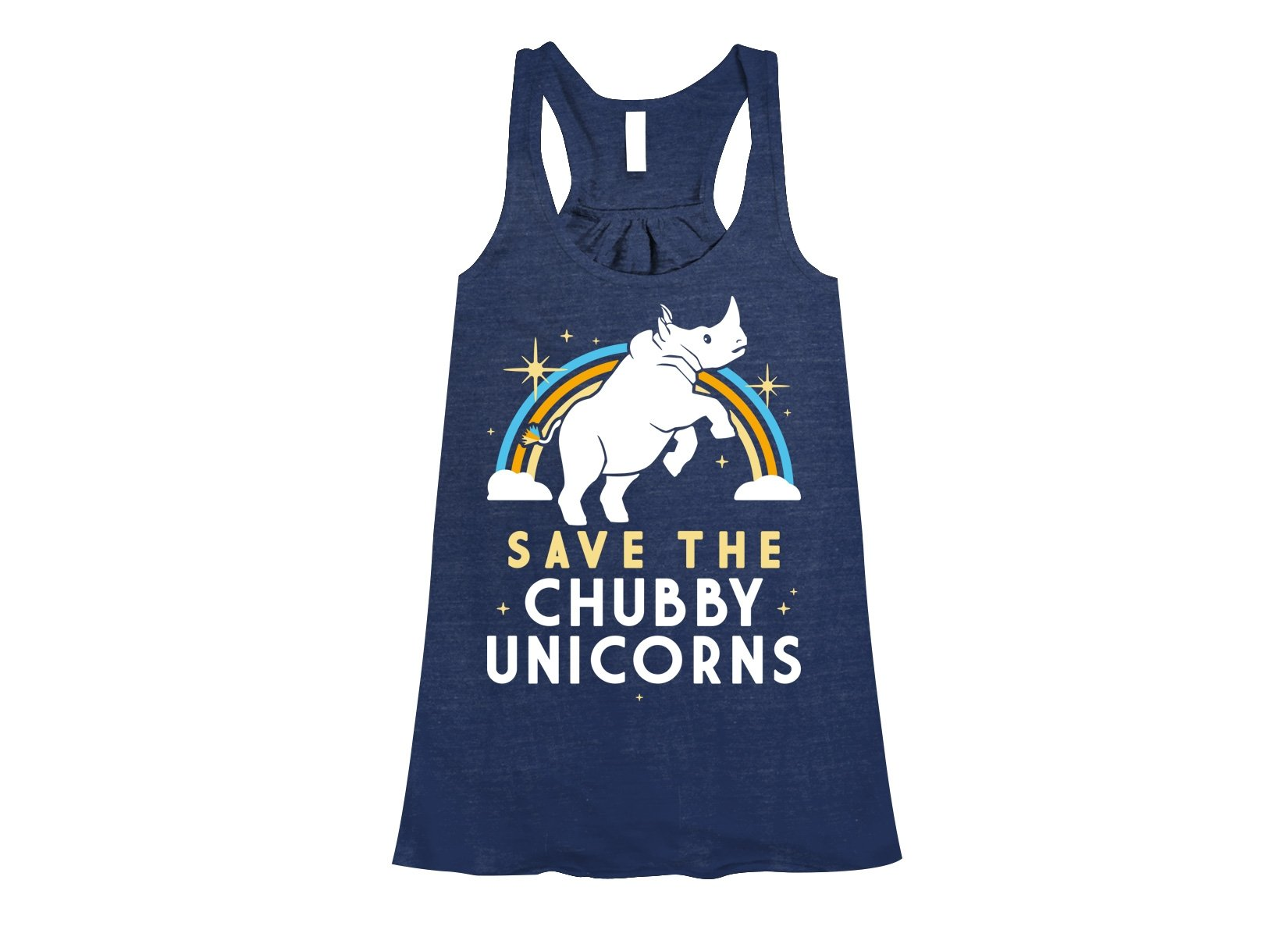 Save The Chubby Unicorns on Womens Tanks T-Shirt