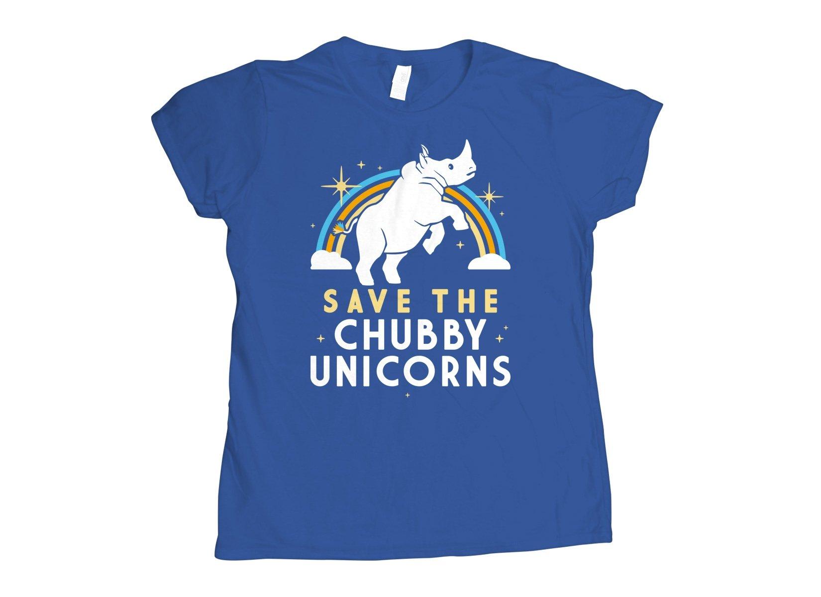 Save The Chubby Unicorns on Womens T-Shirt