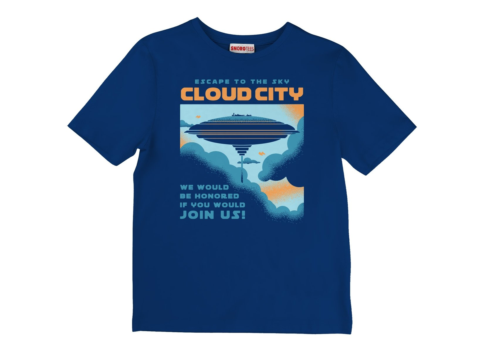 Cloud City on Kids T-Shirt