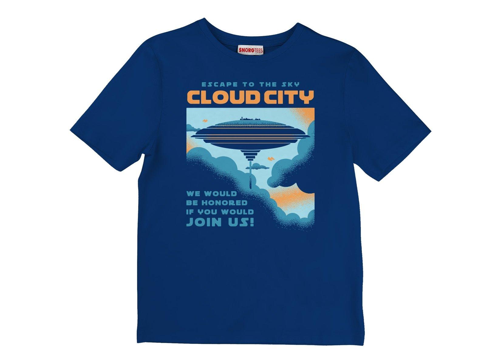 Cloud City on Kids T-Shirt