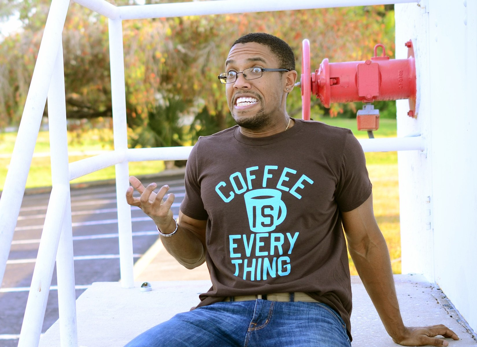 Coffee Is Everything on Mens T-Shirt