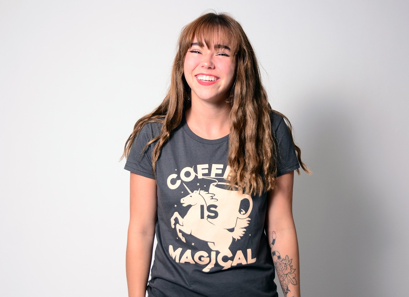 Coffee Is Magical on Womens T-Shirt