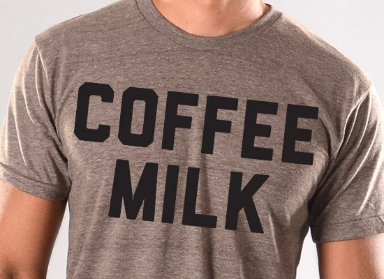 Coffee Milk on Mens T-Shirt