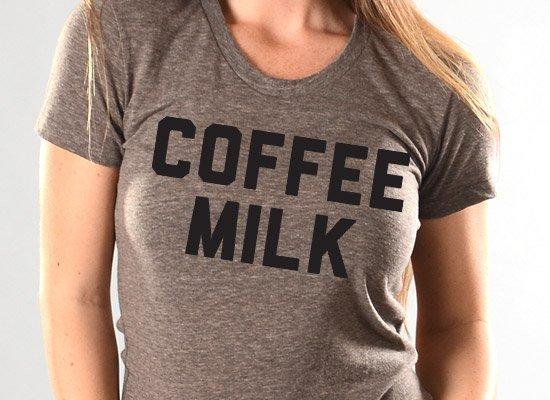 Coffee Milk on Juniors T-Shirt