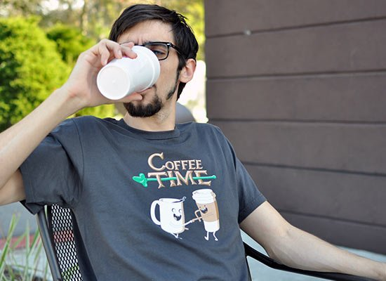 Coffee Time on Mens T-Shirt