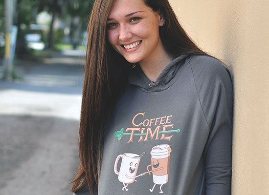 Coffee Time on Hoodie