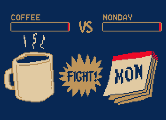 Coffee vs Monday on Kids T-Shirt