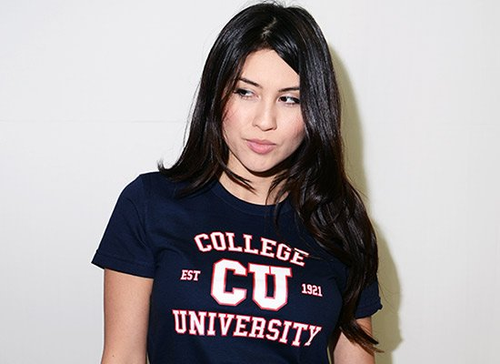 College University on Juniors T-Shirt