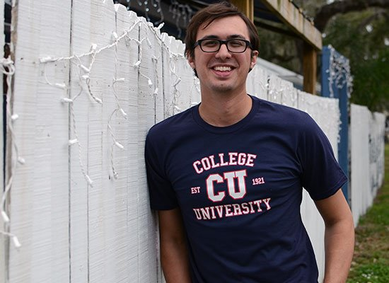 College University on Mens T-Shirt