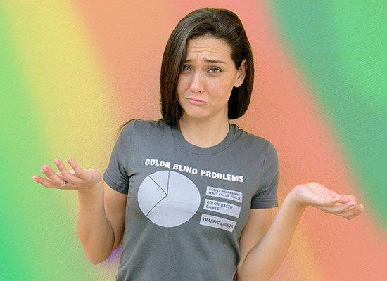 Color Blind Problems T Shirt Snorgtees