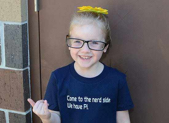 Come To The Nerd Side. We Have Pi. on Kids T-Shirt