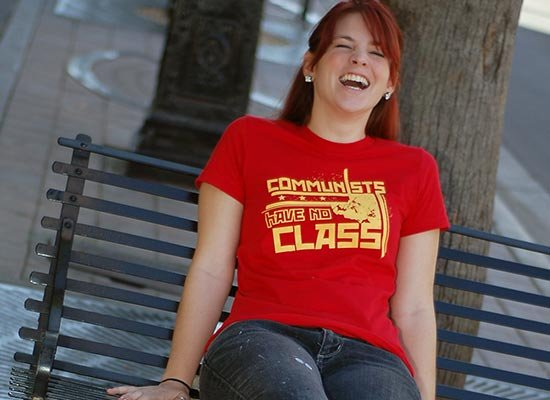 Communists Have No Class on Juniors T-Shirt