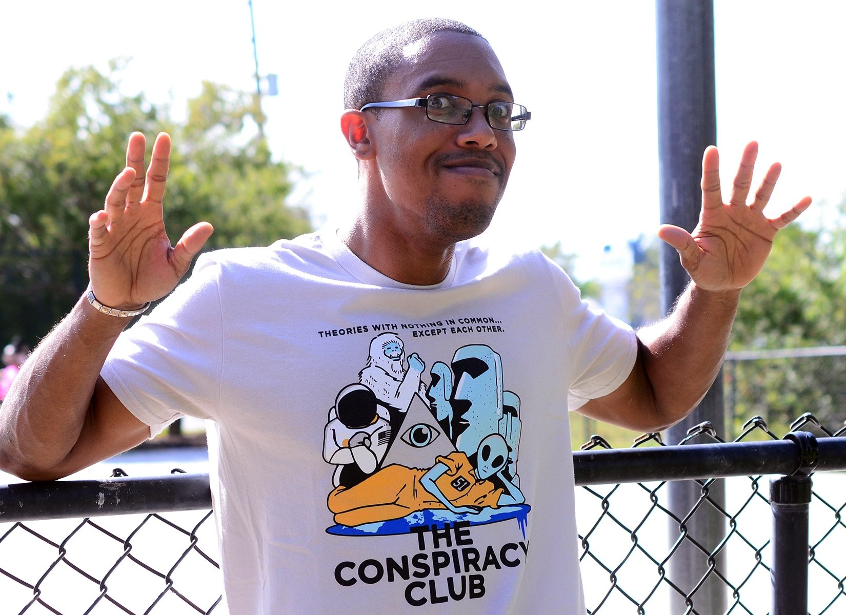 The Conspiracy Club on Mens T-Shirt