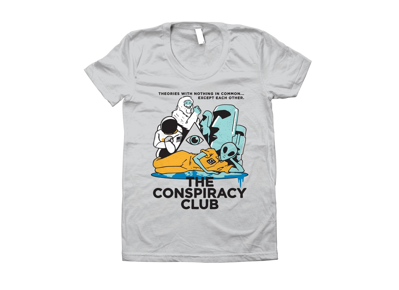 The Conspiracy Club on Juniors T-Shirt