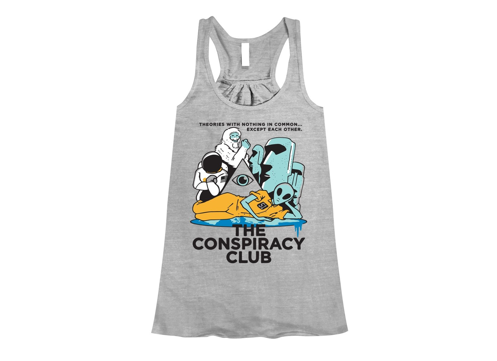 The Conspiracy Club on Womens Tanks T-Shirt