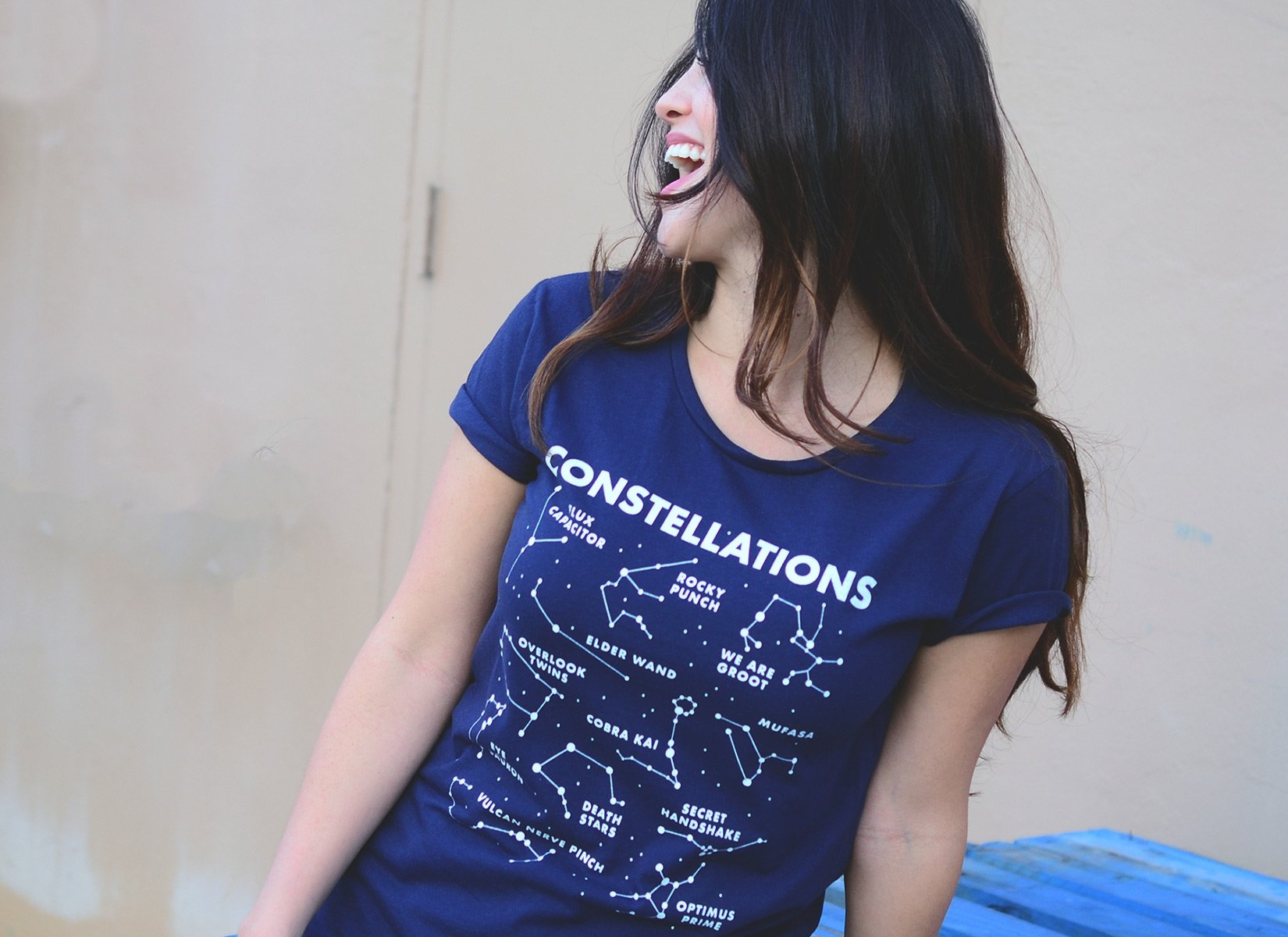 Constellations on Womens T-Shirt