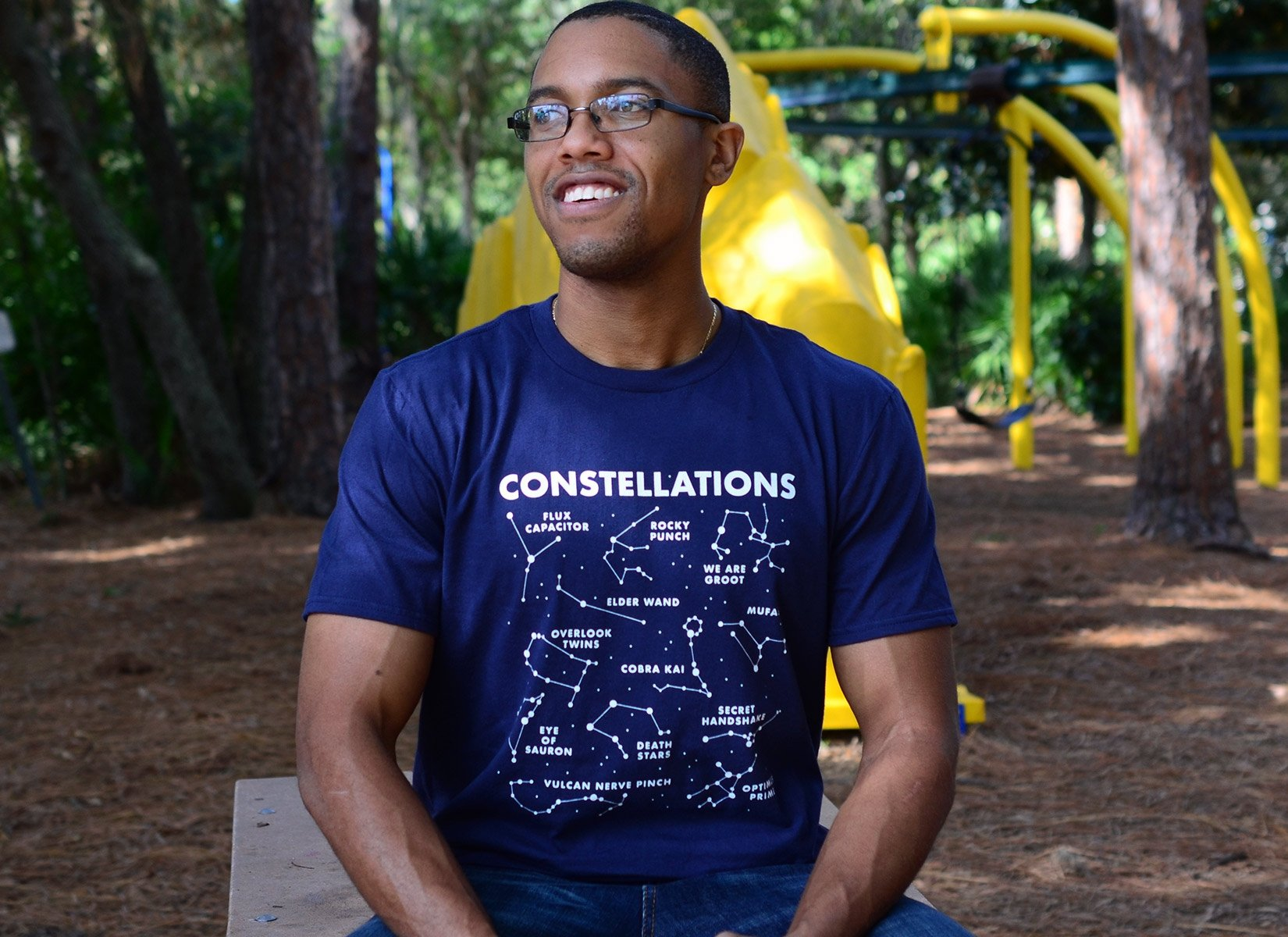 Constellations on Mens T-Shirt