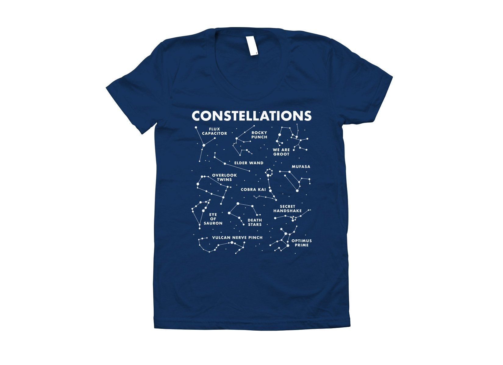 Constellations on Juniors T-Shirt