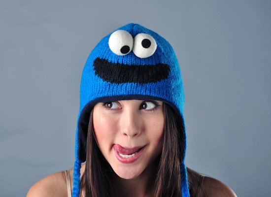 Cookie Monster Sesame Street Hat on Mens Hats