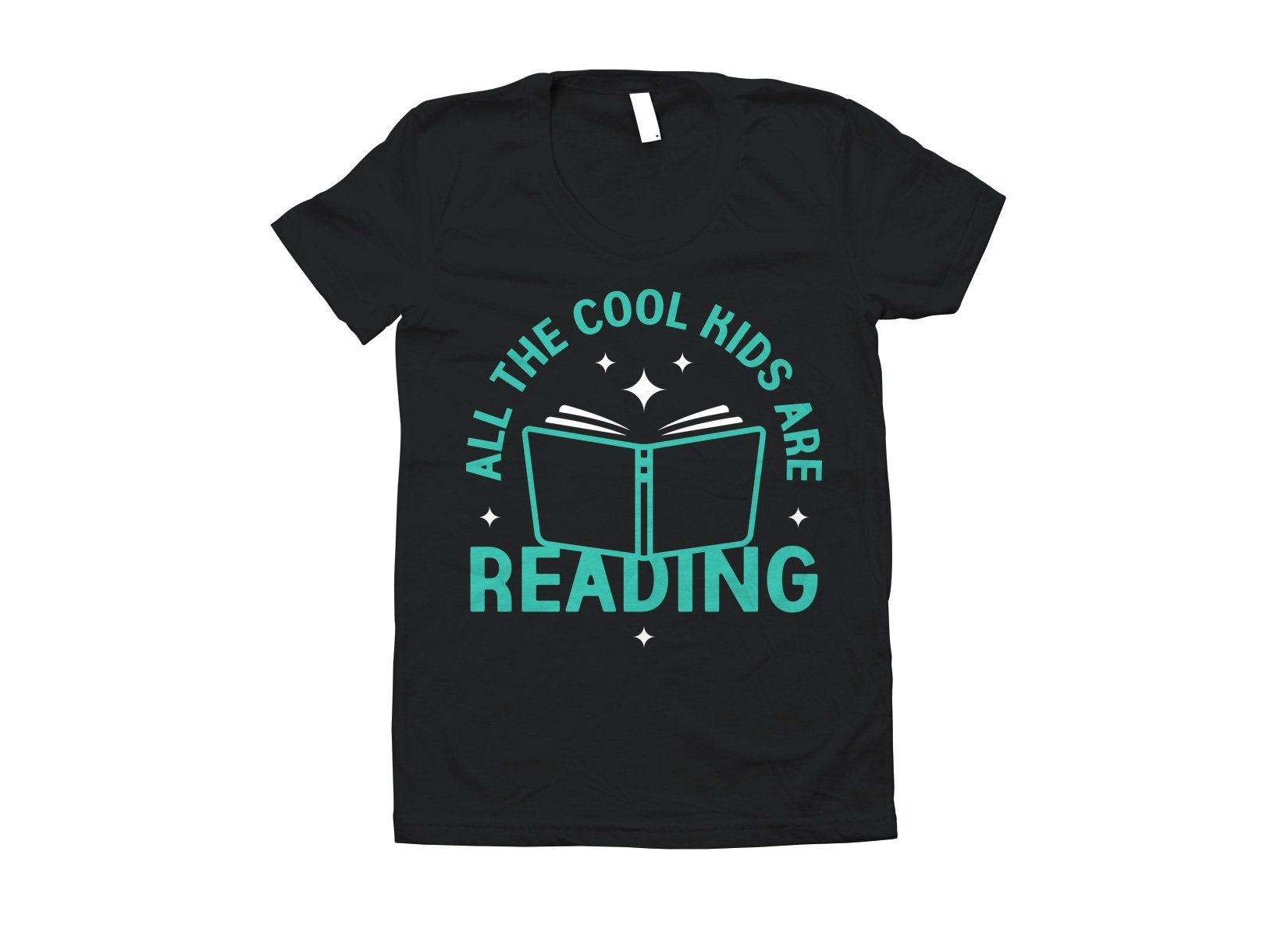 All The Cool Kids Are Reading on Juniors T-Shirt