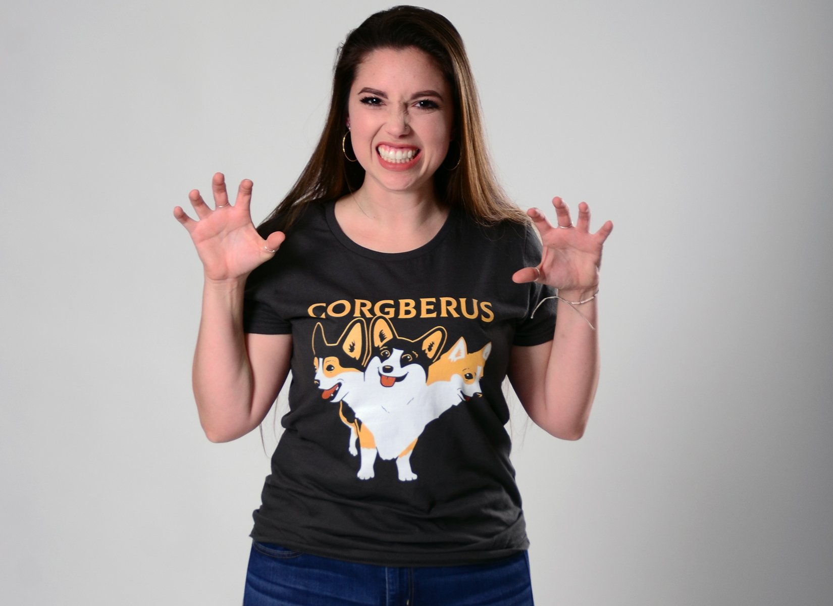 Corgberus on Womens T-Shirt