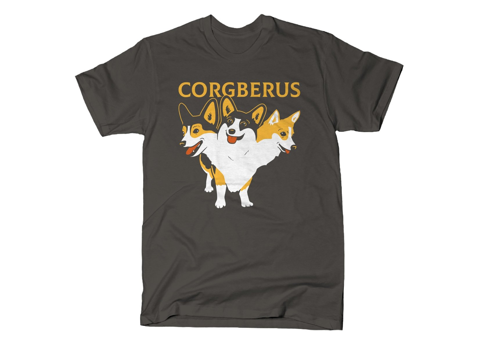 Corgberus on Mens T-Shirt