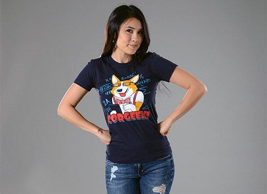 Corgeek on Juniors T-Shirt