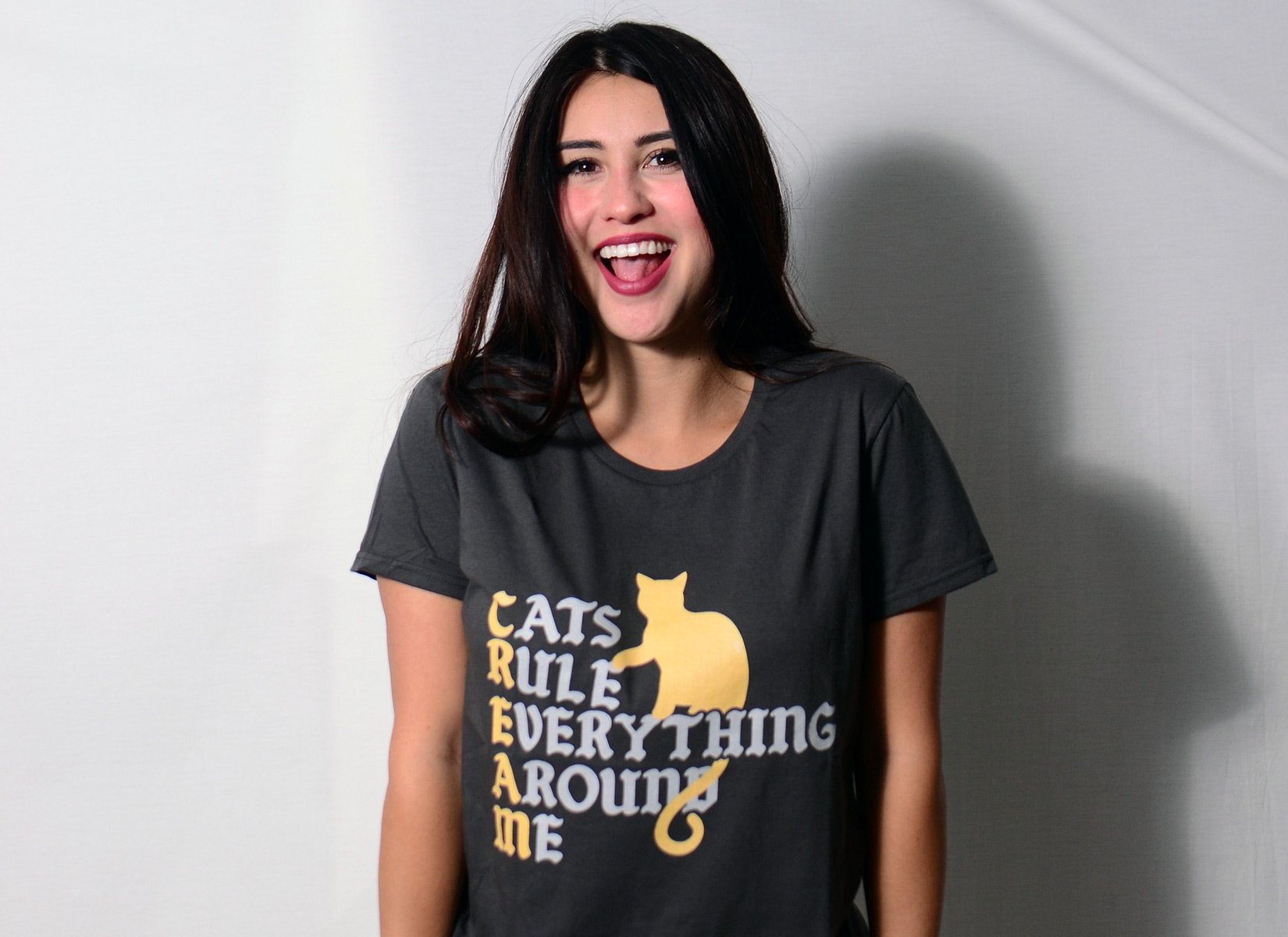 Cats Rule Everything Around Me on Womens T-Shirt