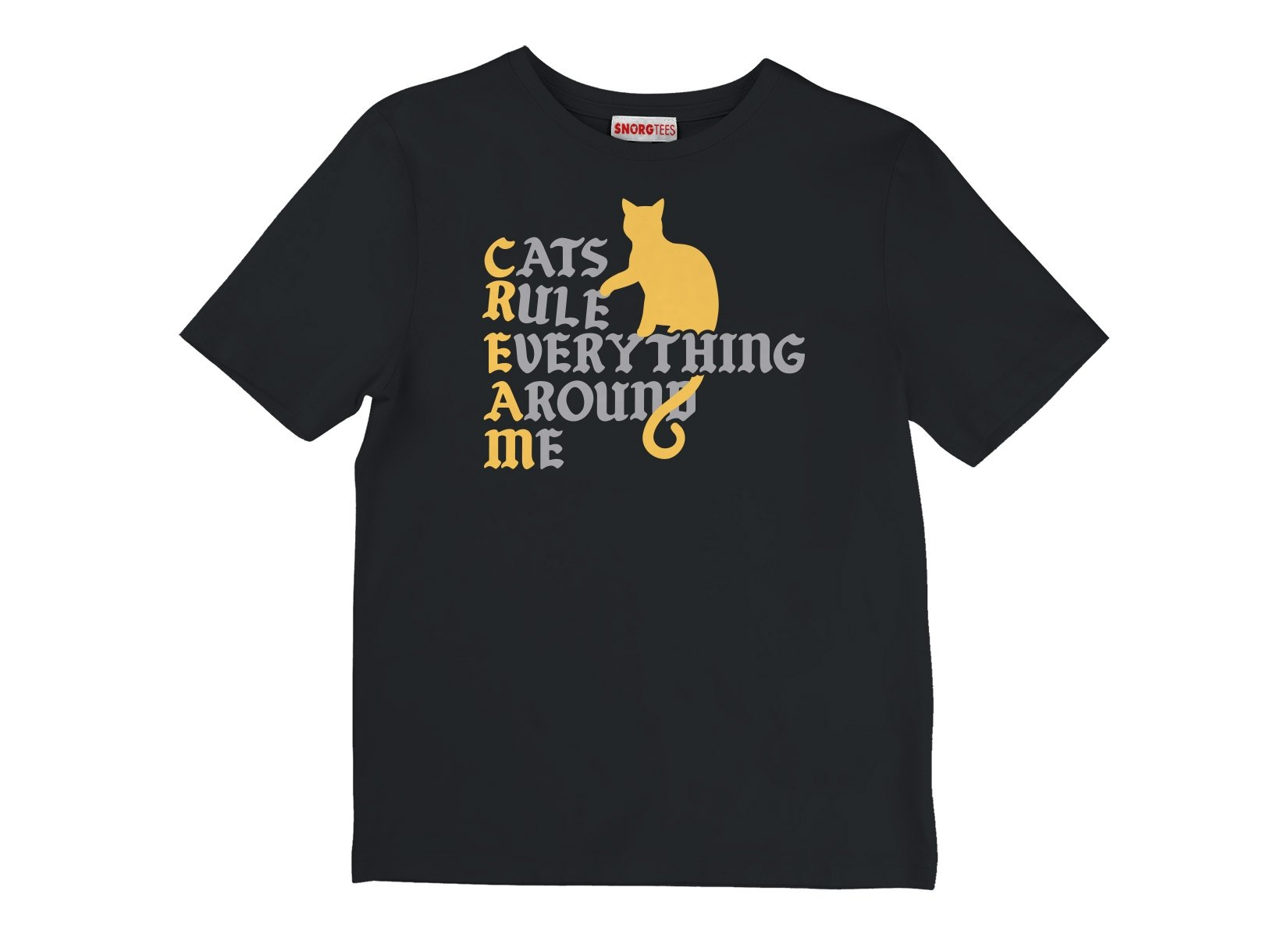 Cats Rule Everything Around Me on Kids T-Shirt