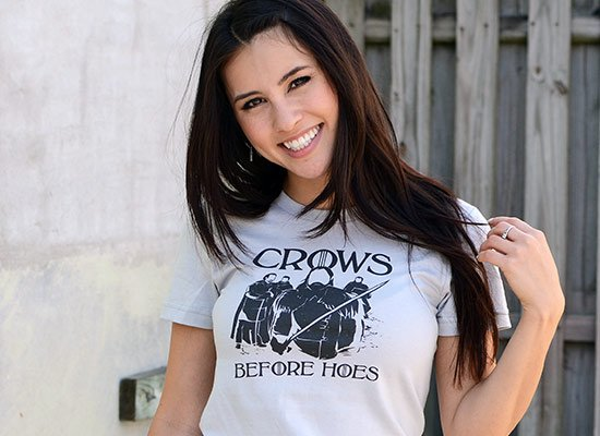 Crows Before Hoes on Juniors T-Shirt