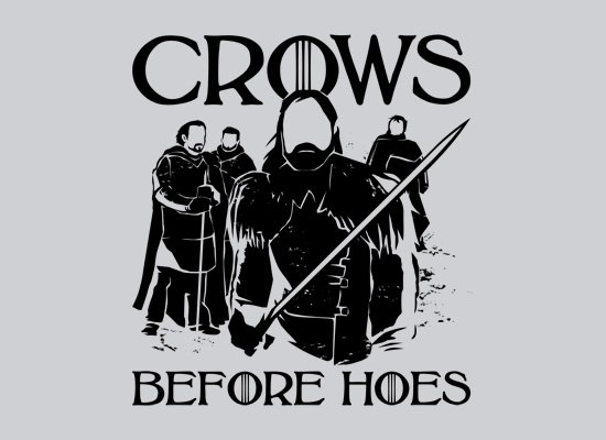 Crows Before Hoes on Mens T-Shirt